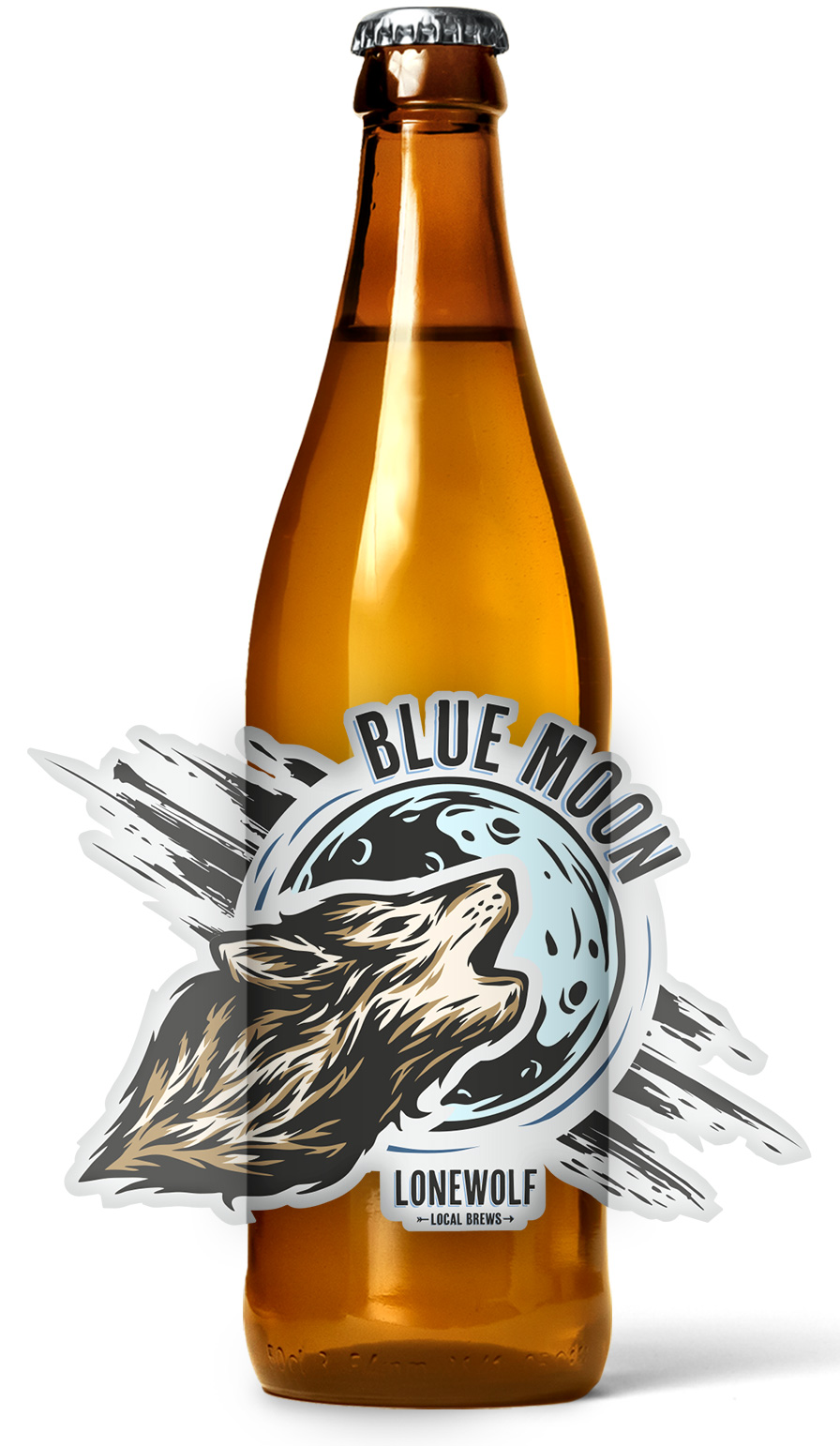 Blue Moon Roll Beer Label Printing