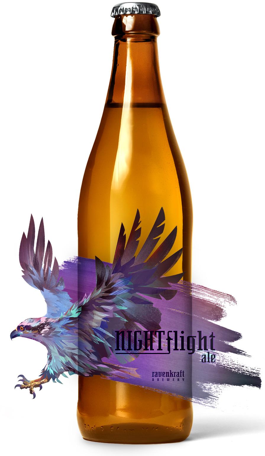 Night Flight Roll Beer Label Printing