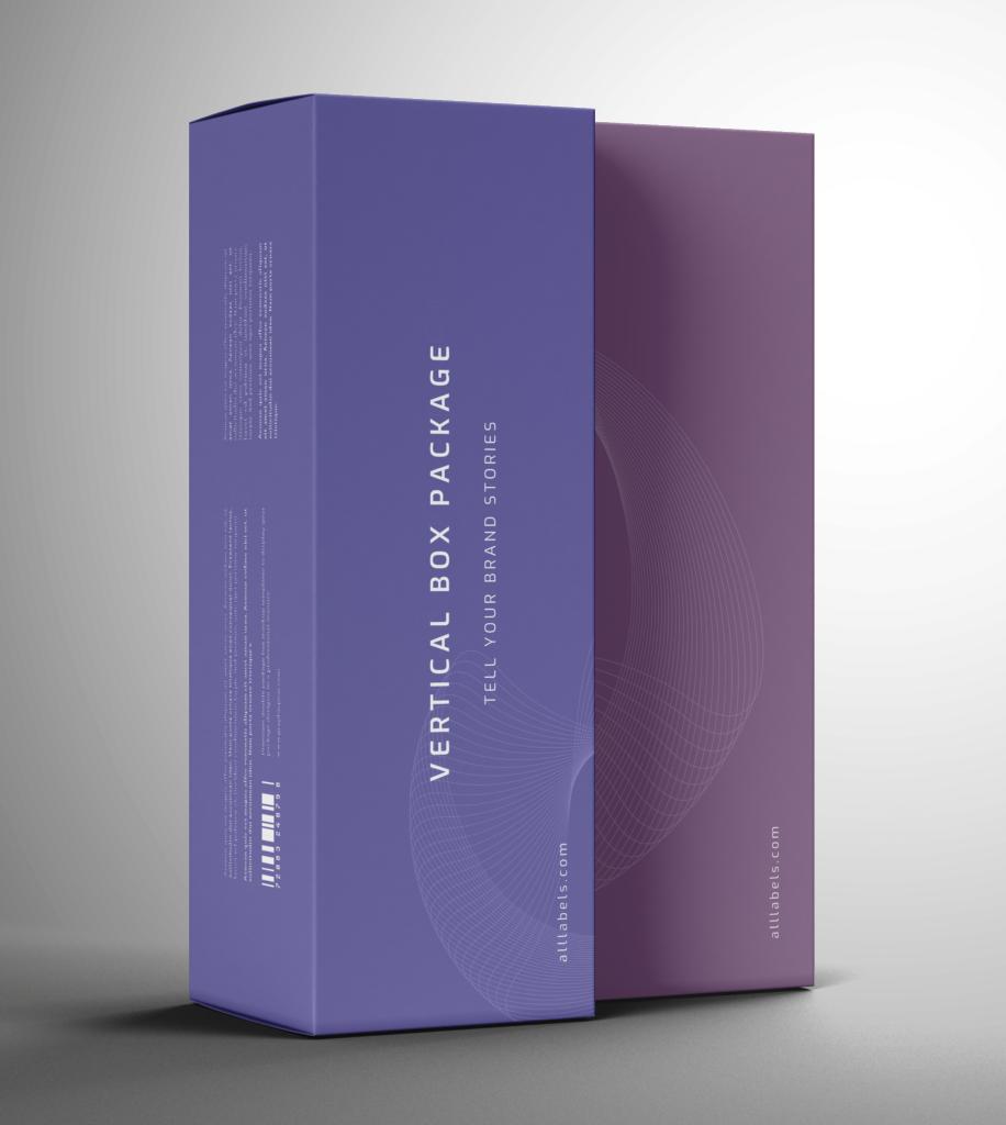 Vertical Box Package Mockup